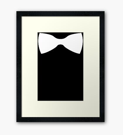 BOW TIE - T Shirt many colours Funny Gift S-XXL Mens and Ladies free p&p Framed Print