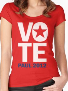 Vote Paul 2012 Women's Fitted Scoop T-Shirt