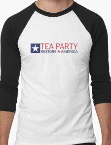 Tea Party Movement Shirt Men's Baseball ¾ T-Shirt