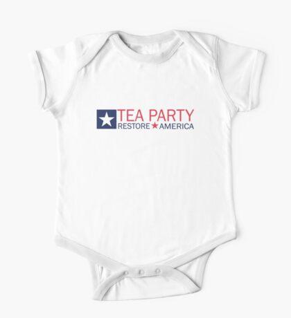 Tea Party Movement Shirt One Piece - Short Sleeve