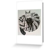 Kitty Doodle Greeting Card