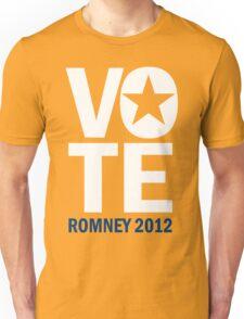 Vote Romney 2012 Unisex T-Shirt