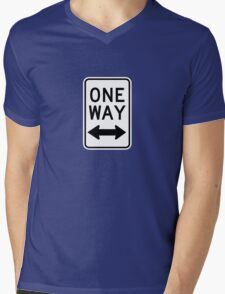 One Way Sign (Which Way?) Mens V-Neck T-Shirt