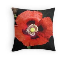 Poppy Macro Throw Pillow