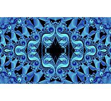 Blue Fractalicious Photographic Print