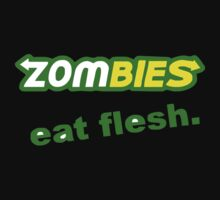 FUNNY  ZOMBIES EAT FLESH SUBWAY HALLOWEEN DEAD GORY ZOMBIE PARODY SICK Kids Clothes