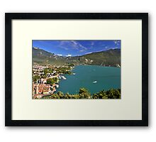 Vista sul Riva del Garda Framed Print