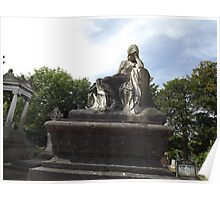 Norwood cemetary: Sculpture: Mournful Seated Woman -(220811b)- Digital photo Poster