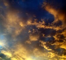 The sky at night, with a beaming light!  by shelleybabe2