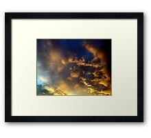 The sky at night, with a beaming light!  Framed Print