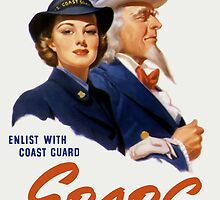 Make A Date With Uncle Sam -- Coast Guard Print by warishellstore