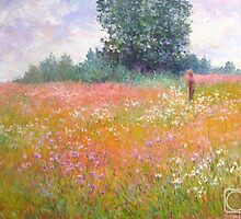 Meadow in July by Julia Lesnichy