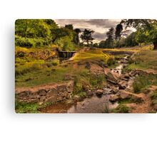 Sunsetting over the Park Canvas Print