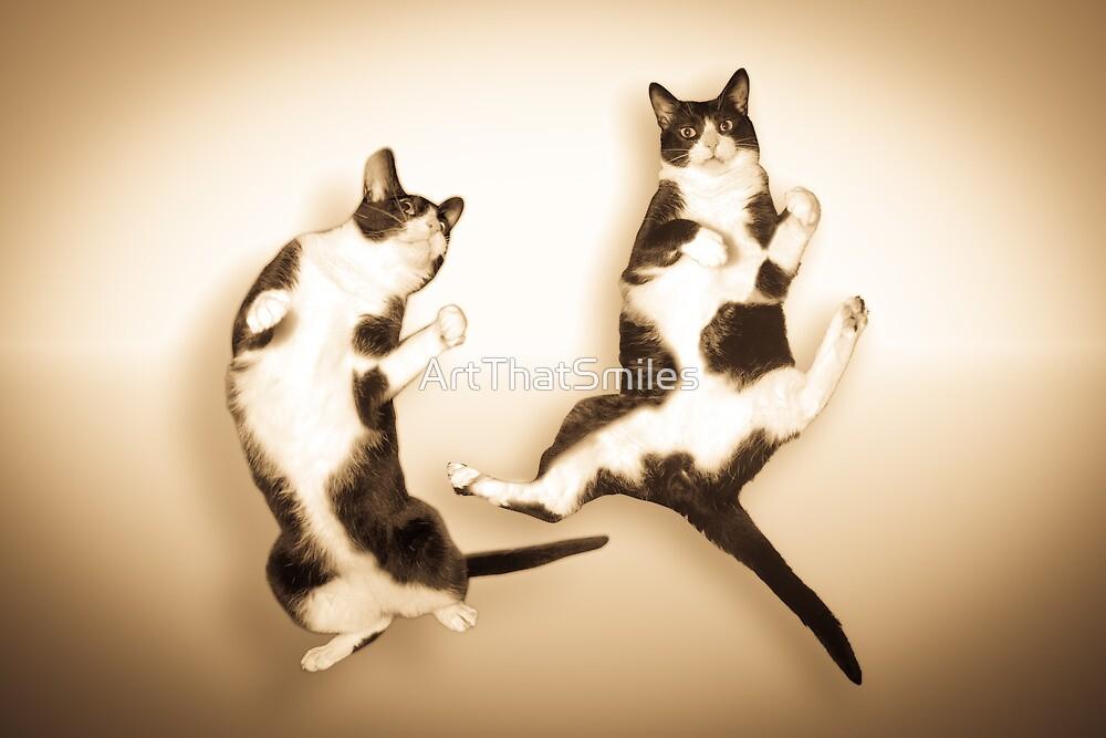Feline It! - Sepia Version by John Hartung
