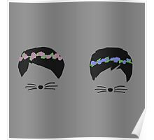 dan and phil with flower crowns Poster