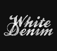 White Denim, White Ink Kids Tee