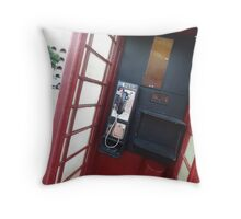Color phone booth Throw Pillow
