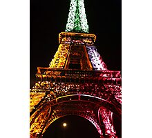 Parisian Mosaic - Piece 21 - The Eiffel Tower Night Light Photographic Print