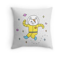 Spacecat Throw Pillow
