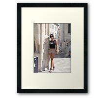 Lily in Dubrovnik - 2 Framed Print