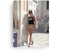 Lily in Dubrovnik - 2 Canvas Print