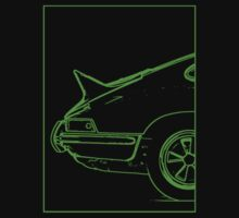 Porsche 911 2.7 RS - The Business End. (Green) Kids Tee
