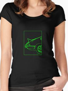Porsche 911 2.7 RS - The Business End. (Green) Women's Fitted Scoop T-Shirt