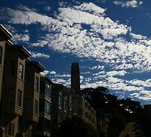 Coit Tower under the Clouds by fototaker