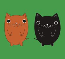 Two silly Cartoon Cats Baby Tee