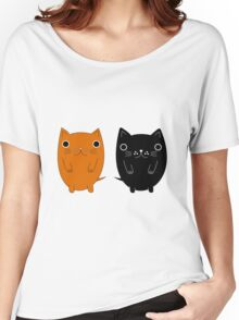 Two silly Cartoon Cats Women's Relaxed Fit T-Shirt