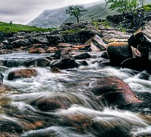 Rushing River, Glen Etive by Aj Finan