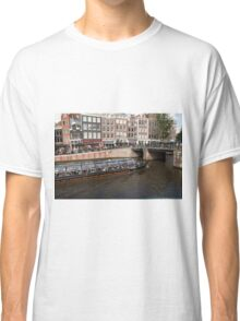 Amsterdam canal boat Classic T-Shirt