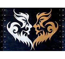 Tribal Burning Man Tattoo Stencil Graffiti Masks Photographic Print