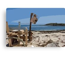 Beach bar, St Mary's Isles of Scilly Canvas Print