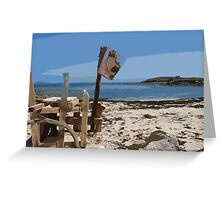 Beach bar, St Mary's Isles of Scilly Greeting Card