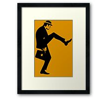 Silly Walk T-Shirt Monty Python Inspired, funny,Small to 2XL different colours Framed Print