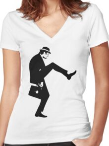 Silly Walk T-Shirt Monty Python Inspired, funny,Small to 2XL different colours Women's Fitted V-Neck T-Shirt