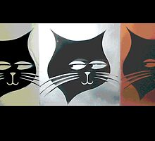 Three Sly Black Cats in Heat by rolandhill90