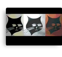 Three Sly Black Cats in Heat Canvas Print
