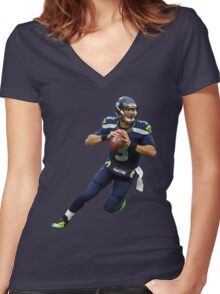 Russell Wilson Women's Fitted V-Neck T-Shirt