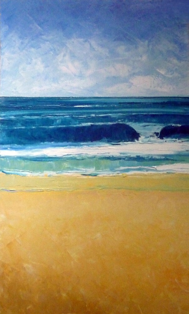 New swell (low tide bank) by Ben Lucas
