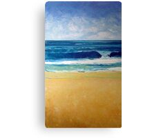 New swell (low tide bank) Canvas Print