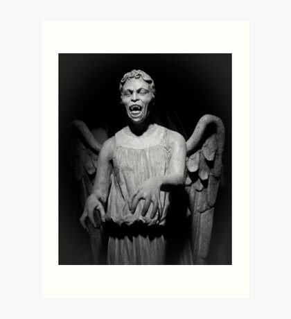 Doctor Who - Don't blink, whatever you do, don't blink Art Print