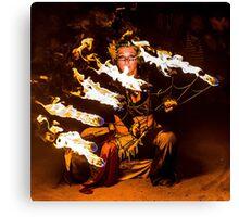 Fire Fans Canvas Print