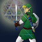 Link and the triforce by BreteKosan