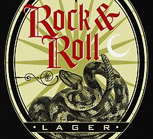 Rock and Roll Snake Lager Label by rolandhill90