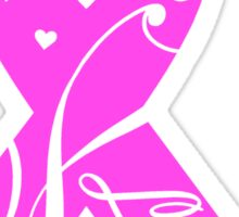 Pink Breast Cancer Ribbon With Love  Sticker