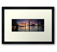 Salisbury Wharf Red Dusk Framed Print