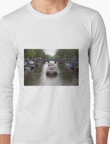 Amsterdam canal boat Long Sleeve T-Shirt