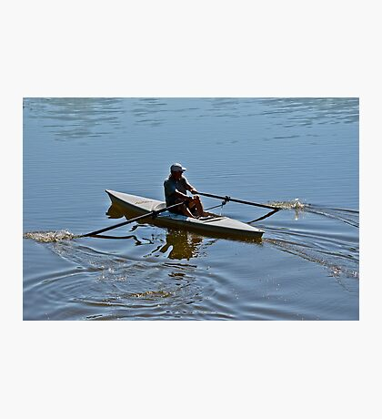 Early Morning Rower Photographic Print